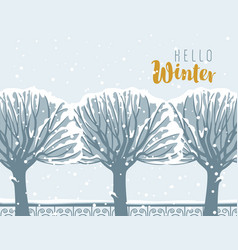 winter landscape with snow-covered trees in park vector image