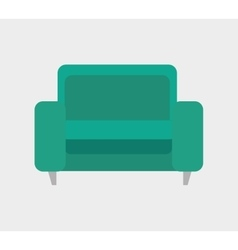 icon sofa green design vector image