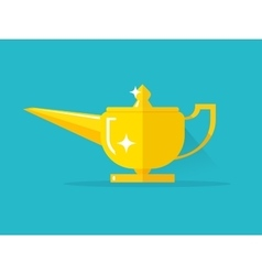 Aladdin lamp with Jean vector image