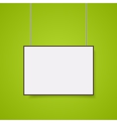 Empty white A4 sized paper mockup vector image