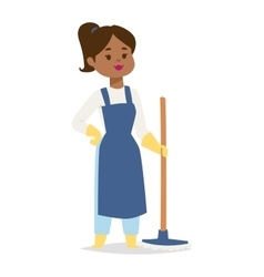 Housewife girl vector