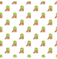 Slide house pattern cartoon style vector