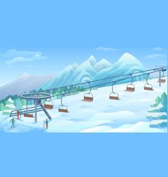 winter outdoor resort background vector image