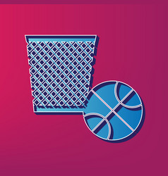 trash sign   blue 3d printed vector image