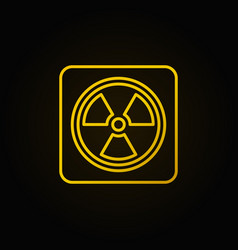 Radiation concept linear yellow icon vector