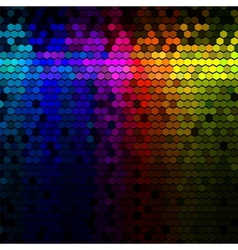 Abstract lights disco background vector image