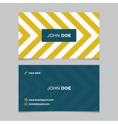 business card pattern yellow 06 vector image