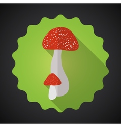 Mushrooms bad habits flat icon background vector