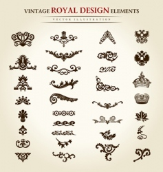 Flower vintage royal design element vector