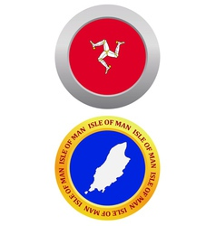 Button as a symbol isle of man vector