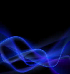 Blue smoke abstract glow light swoosh line vector image