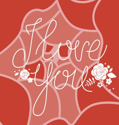 I love you design vector