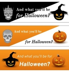 Three halloween poster vector