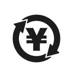 The currency exchange yen icon cash and money vector