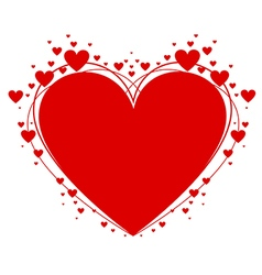 Heart symbol of valentines day vector