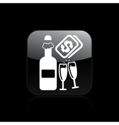 champagne cost icon vector image