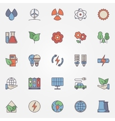 Green technology icons vector