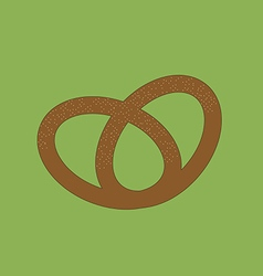 Pretzel icon vector