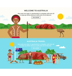Welcome to australia banners vector