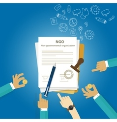 Ngo non government organization types of business vector