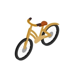 Bike icon isometric 3d style vector
