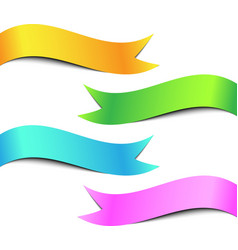 Colorful ribbon banner set vector