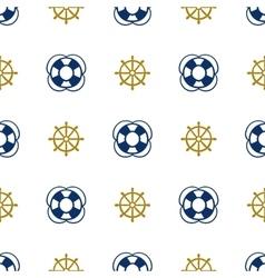 Grunge marine seamless pattern vector