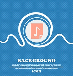 Audio mp3 file icon sign blue and white abstract vector