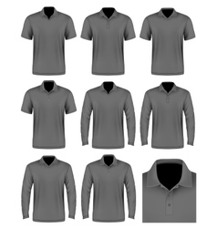 Collection of men polo shirt vector