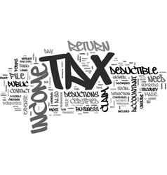 Are you ready for tax day text word cloud concept vector
