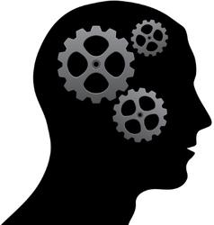 Brain of gears vector