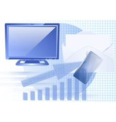 business and computer vector image vector image