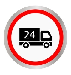 Car 24 hours delivery 24 hours icon vector