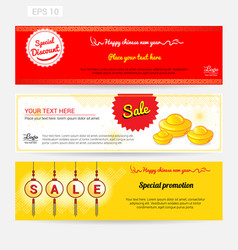 Chinese new year sale banner background vector