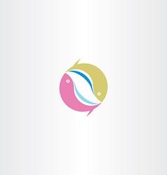 circle fish logo symbol icon sign design vector image vector image
