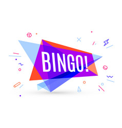 colorful banner with text bingo vector image