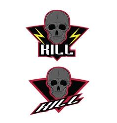 Day of the dead print skull and bones logo vector