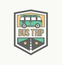 Field trip emblem vector
