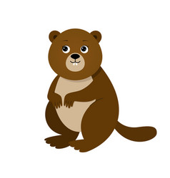 funny beaver for children vector image