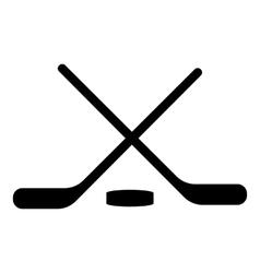 Hockey icon simple style vector