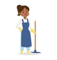 Housewife girl vector