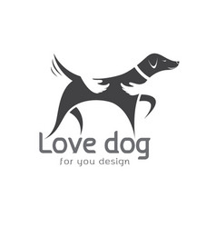 Human hand that hugs the dog on white background vector