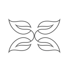 line art butterfly logo vector image