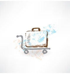 luggage grunge icon vector image