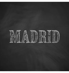 Madrid icon vector
