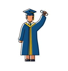 man graduating vector image