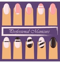 Manicure or nail salon logo vector image