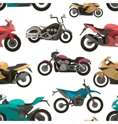 Motorcycle icons set pattern vector