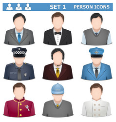 Person icons set 1 vector