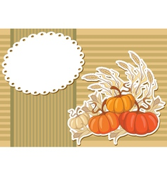 Pumpkin sticker background vector